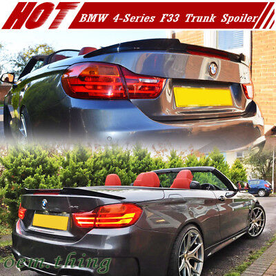 IKON MOTORSPORTS P Style ABS Painted Alpine White Iii #300 Rear Tail Lip Deck Boot Wing Other Color Available Pre-painted Trunk Spoiler Compatible With 2014-2020 BMW 4 Series F32
