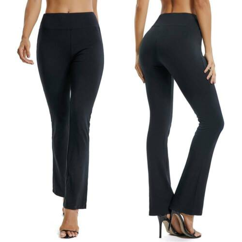 Bootcut Pantalon Stretch Flare Pantalon Femme Leggings Boot Leg Yoga Pantalon