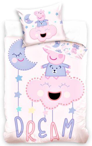 Baby Bettwäsche 100 x 135 cm Peppa Pig Einhorn Eule Kinderbettwäsche Superman