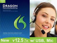 Nuance 12 .5 Dragon Naturallyspeaking 12.5 Premium Free Headset /mic Usb Adapter