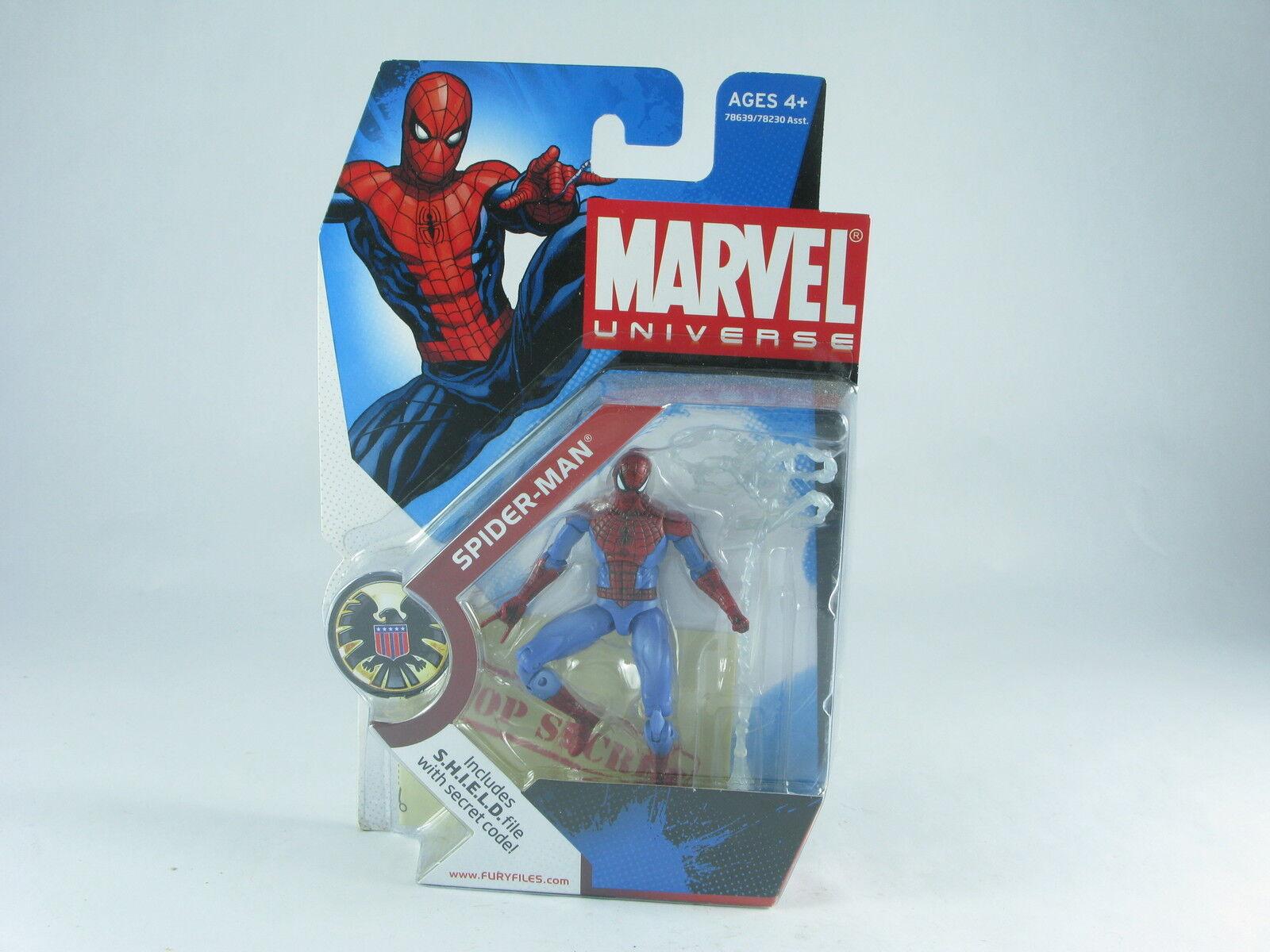 Marvel Universe Spider-man, 002 Light bluee 4  Figure MOSC New Unopened