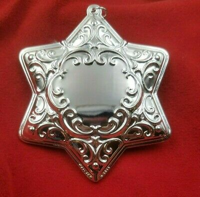 6th Edition, Wallace Engraveable Silver-Plated Christmas Holiday Ornament