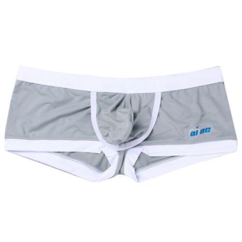 Mens Breathable Knickers Sissy Shorts Bulge Pouch Underwear Comfy Boxers Briefs