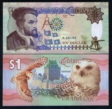 Quebec, Canada, $1, 2016, Private Issue, Essay UNC - Snow Owl, Jacques Cartier