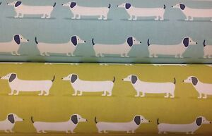 New Fryetts Hound Dog Dachshund Cotton Print Fabric