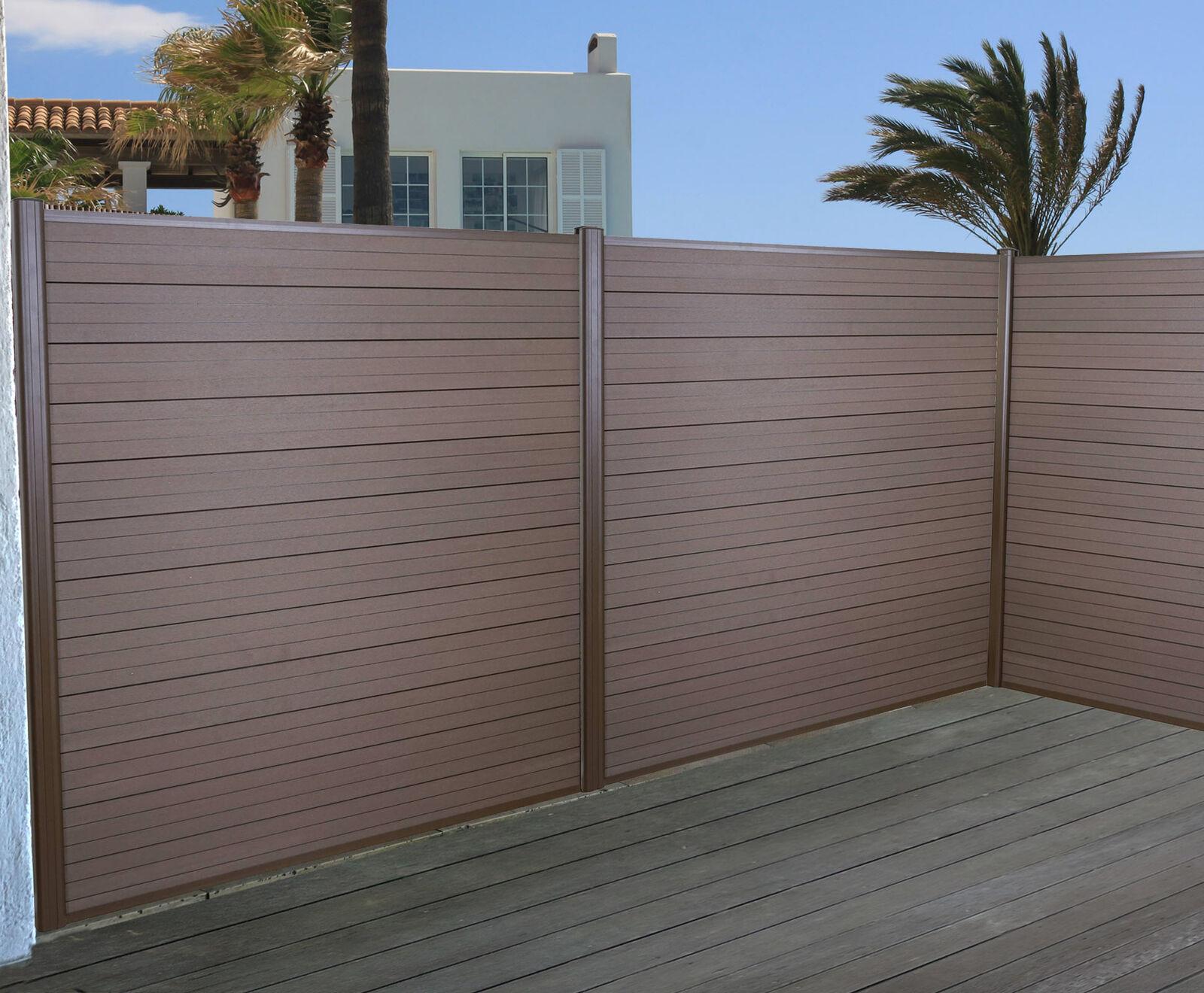 vendita scontata WPC-Antivento Sarthe, recinzione privacy, ALU-MONTANTE 3er 3er 3er Set 5,6m Marronee  il più recente