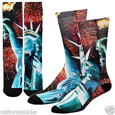 Statue of Liberty NYC 10-13 FBF For Bare Feet NBA Sublimated Crew Socks Large