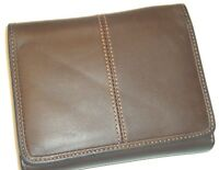 Dopp Great American Series Brown Caredit Card Genuine Leather Organizer Wallet