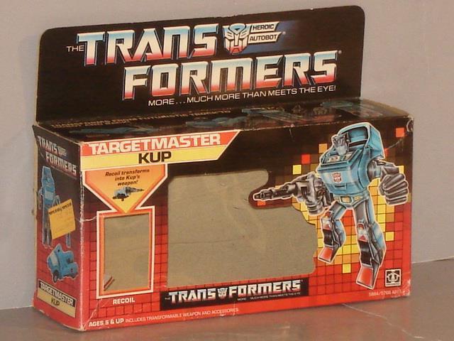 G1 TRANSFORMER AUTOBOT TARGETMASTER KUP EMPTY BOX LOT  HARD TO FIND