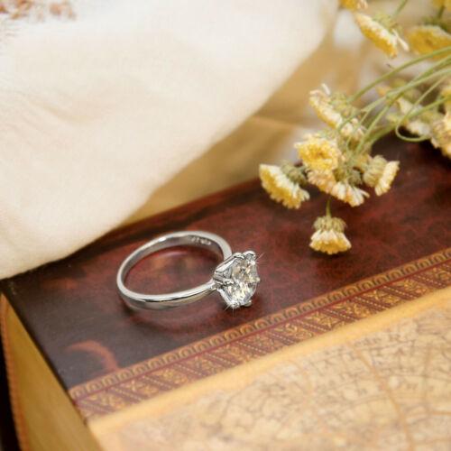 1 karat Solitaire Diamant-Verlobungsring Weißgold Finish Versprechen Liebe Ring