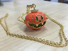 Halloween Pumpkin Necklace Jewelry Charms Pendant Lockets Harmony Ball Bola Bell