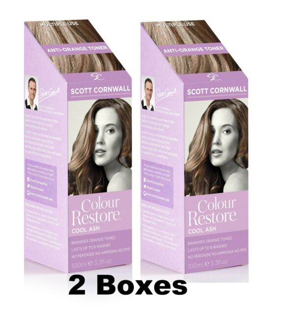 2 X Ash Hair Toner for Brunettes & Dark Blondes Save £6 - by Scott Cornwall