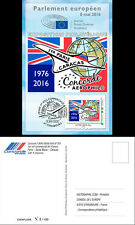 """CO-RET64 Card Eur. Parliament """"40. 1st Concorde AF flight Paris-Caracas"""" 8-5-16"""