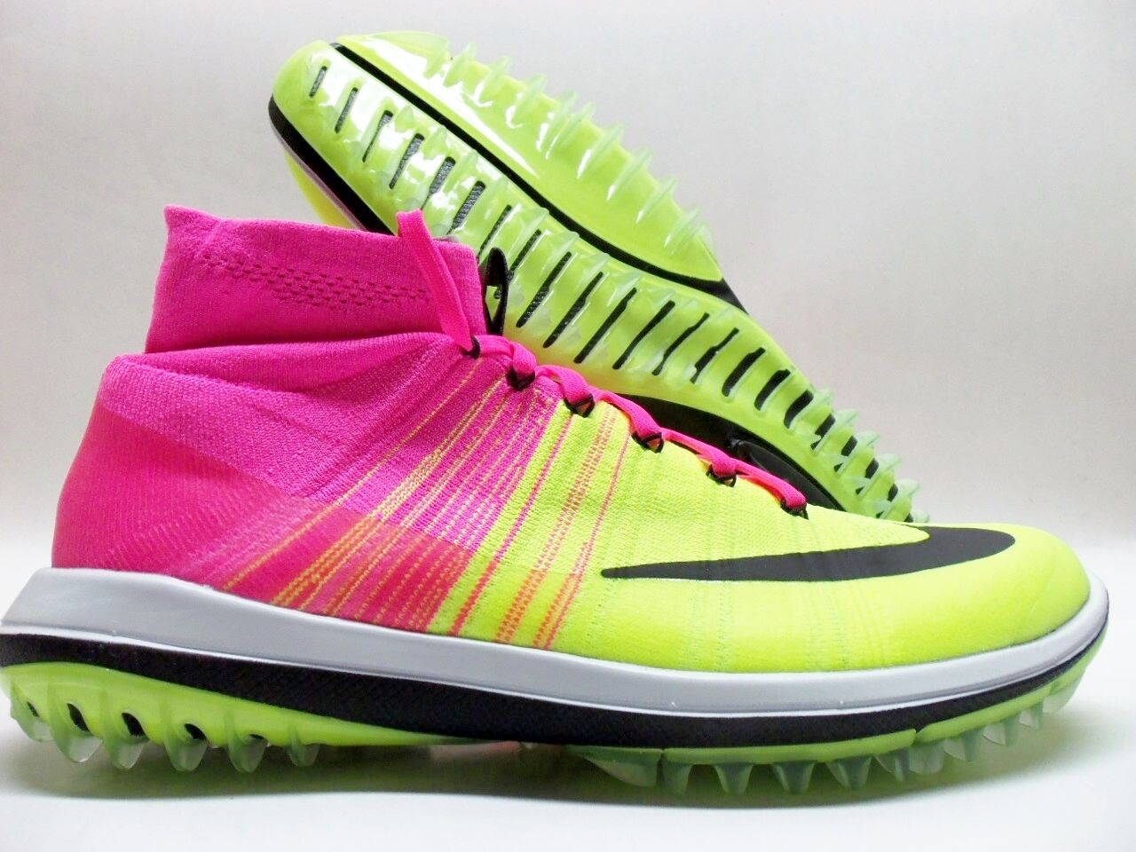 NIKE FLYKNIT ELITE GOLF SHOE PINK BLAST/BLACK-VOLT SIZE MEN'S 11 Price reduction The latest discount shoes for men and women