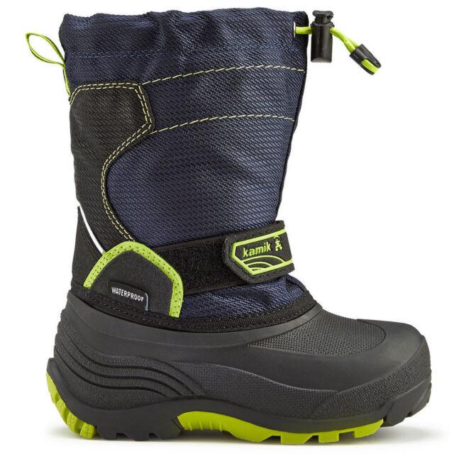 24b3a7d2a71d SNOW Boots Little Boys Kamik Navy Snowcoast WINTER Comfort Rated -40°F Size  10