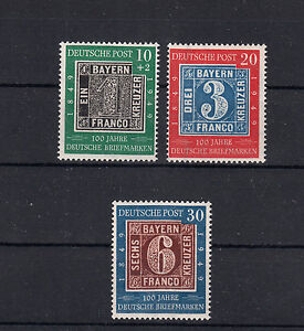 400 ) West Germany Federal Post MNH ** 1949 / 100th First German stamps