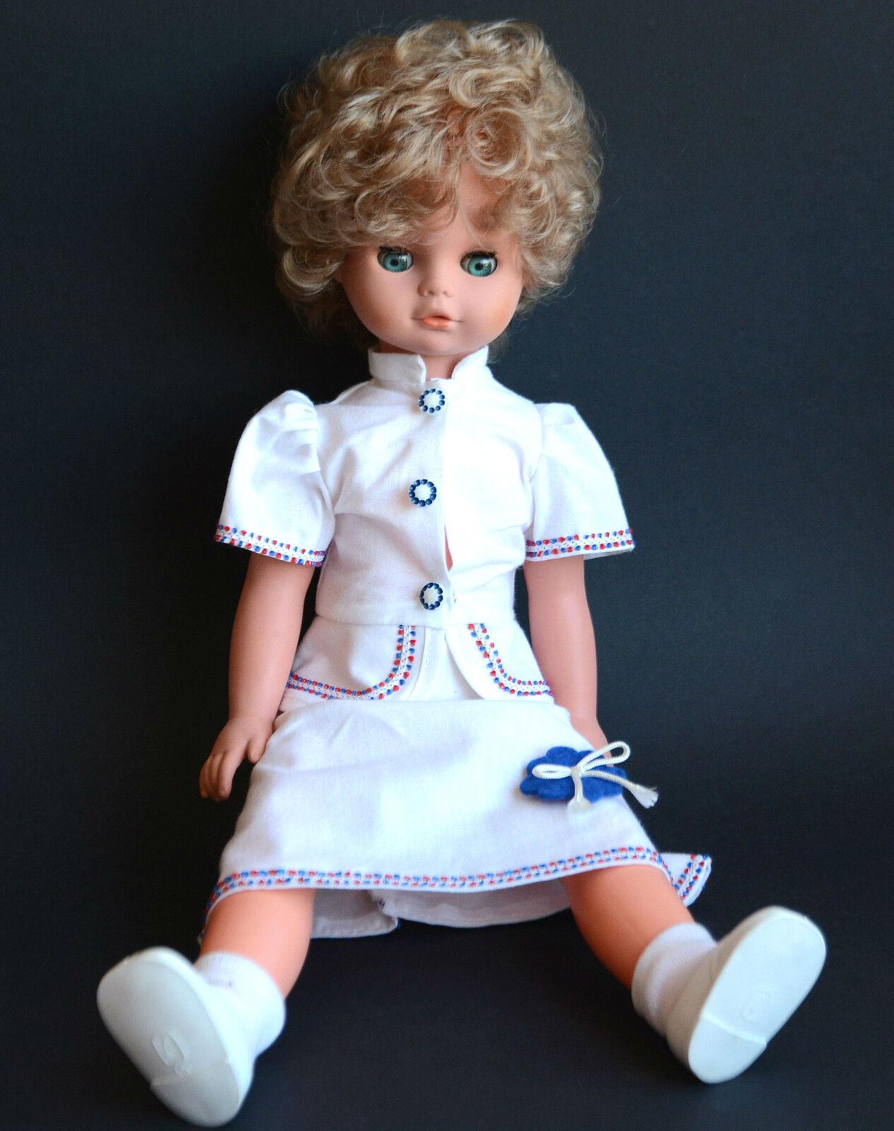 1970s Vintage GERMAN Large Größe Größe Größe Doll efbd48