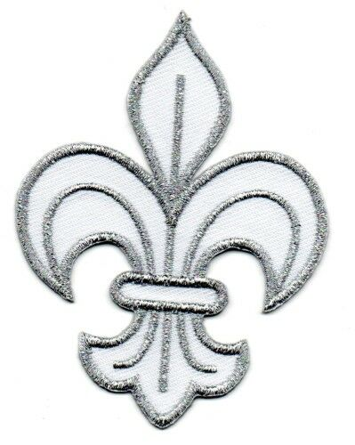 Patch ecusson brodé FLEUR DE LYS roi de france royal embleme insigne royal