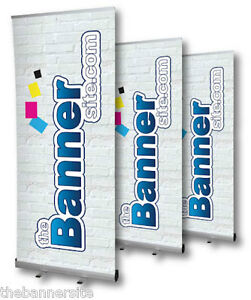 Pull//Roll Up Sign Exhibition Stand 85cm x 200cm Roller Banner Display Stand