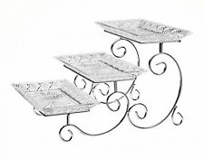 3 Tier Serving Tray Crystal Server Food Display Party Wedding Dessert Stand New