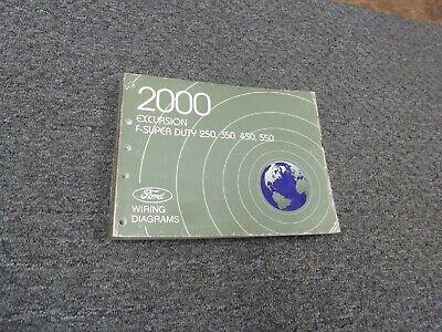 2000 Ford F550 Super Duty Truck Electrical Wiring Diagram Manual Xl Xlt Lariat Ebay