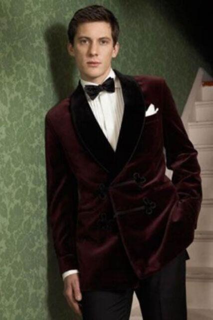 Men Green Belt Smoking Jacket Elegant Luxury Stylish Designer Party Wear Blazer