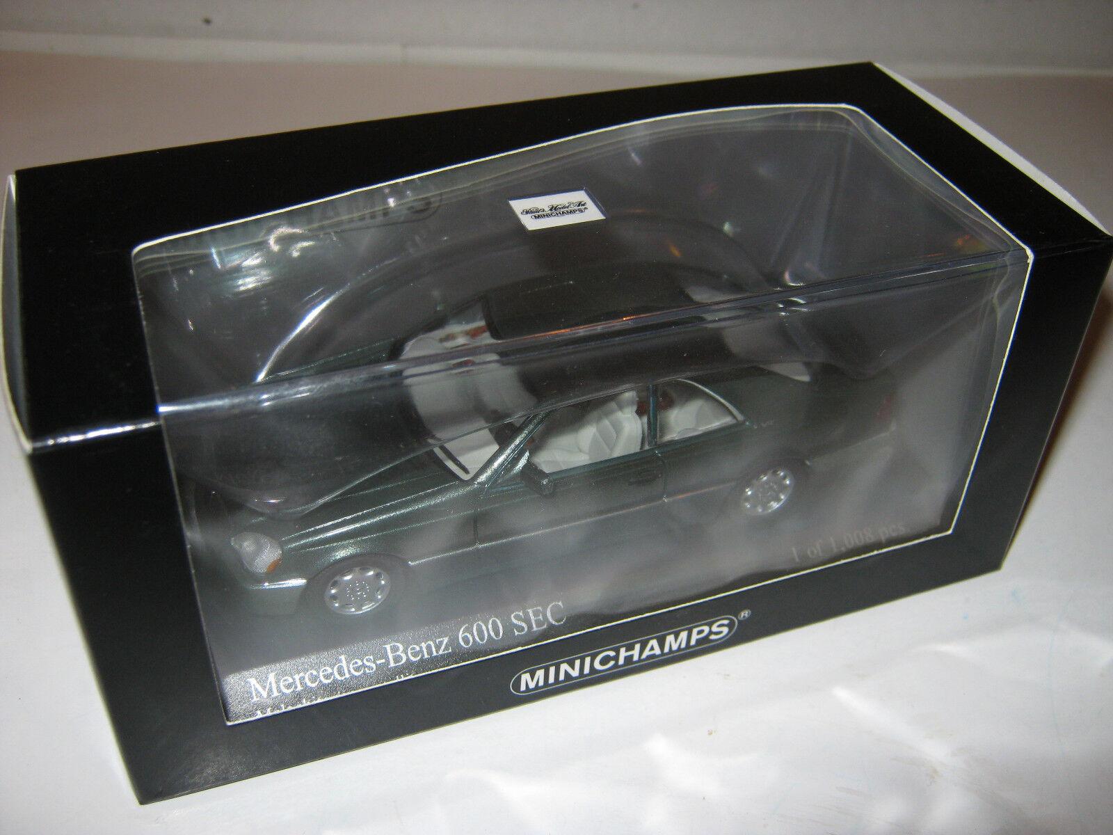 1 43 MERCEDES 600 SEC 1992 vert Metallic L.E. 430032604 MINICHAMPS neuf dans sa boîte New