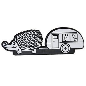 Caravan-Igel-Auto-Relief-Schild-Emblem-Aufkleber-3D-Wohnwagen-HR-Art-14948