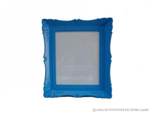 "Bilderrahmen /""Antik/"" blau lackiert Kunststoff Plastik Foto reifra MadeinGermany"