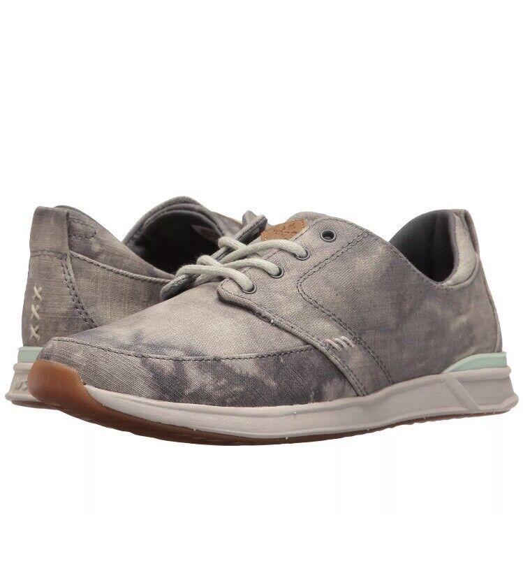NEU Reef Rover Low TX Schuhes Damens's Größe 8.5 Grau Camo RF008326