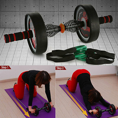 [Made In Korea] Double Wheel abdominal exerciser ab roller workout Fitness gyms