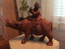 """Antique Chinese Carved Wood Statue of Ox or Water Buffalo 6"""""""