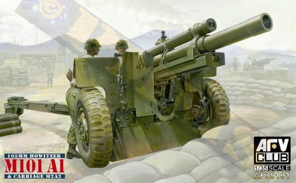 AFV Club 1 35 M101 A1 105mm Howitzer & M2A2 Carriage