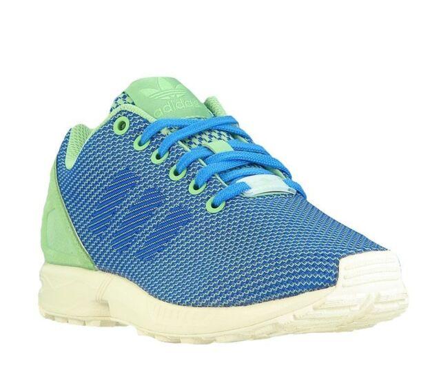 55e685d03 Buy adidas Originals Men s ZX Flux Weave Trainers Running Blue Green ...