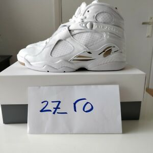 new products b8b78 79a21 Details about Air Jordan 8 x OVO US 10 White Gold Athletic Drake AJ8 Men  Nike