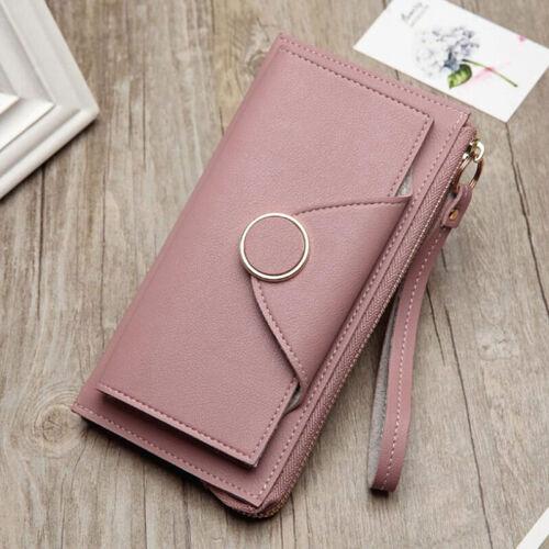 Ladies Women Faux Leather Bifold Wallet Coin Pocket Slim Purse Card Holder N7