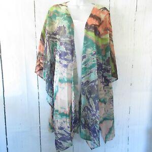 New-Umgee-Kimono-Cardigan-XL-XXL-Tie-Dye-Print-Boho-Hippie-Plus-Size