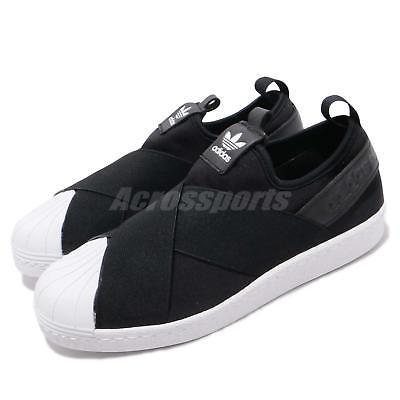 adidas Originals Superstar Slip On W Black White Strap Womens Shoes S81337 | eBay