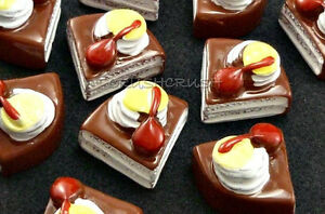 10pcs-Chocolate-Fruit-Cake-Cheesecake-Fake-Food-FlatBacks-Cabochons-Cherry-F365