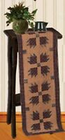 Bear's Paw Quilt Pattern Tea Dyed Quilted Table Runner 16 X 48 Cotton Fabric