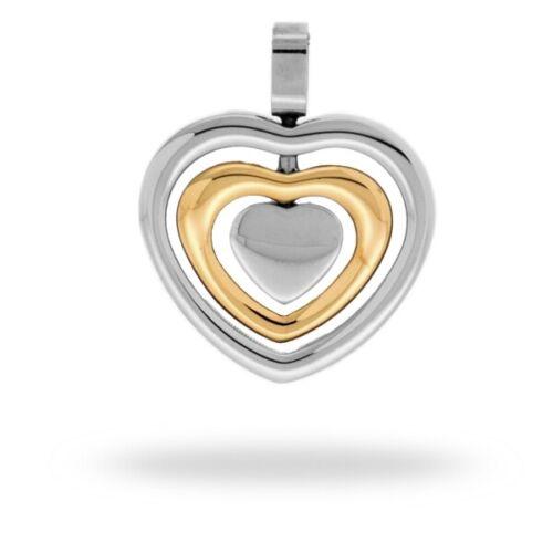 Cem acero inoxidable remolque señora joyas corazón bicolor 4-107089-001