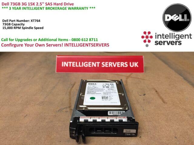 Dell PowerEdge 73GB 15K 3G SAS 2.5'' Hard Drive XT764 / 0XT764