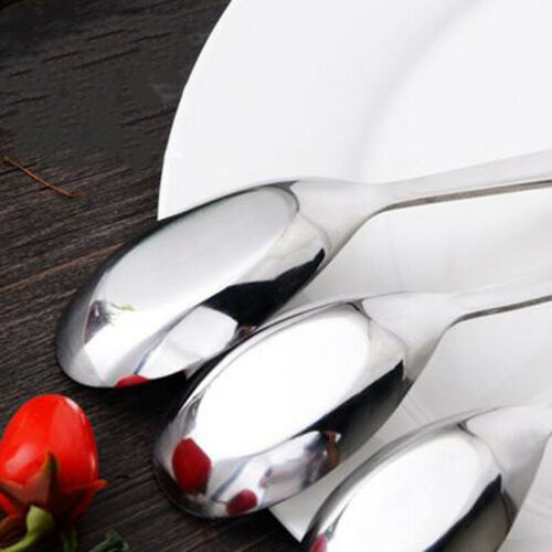 Kitchen Thick Heavy-weight Soup Spoons Stainless Steel Table Dinnerwear Flatware