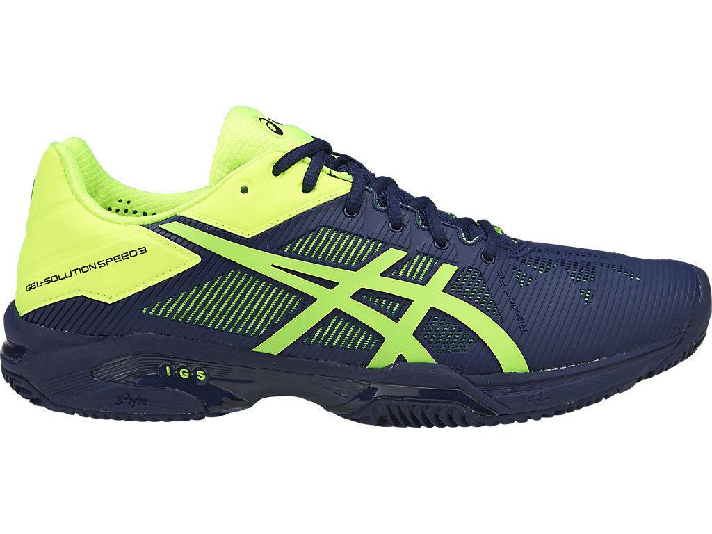Authentic Asics Gel Solution Speed 3 Herringbone Mens Tennis zapatos (D) (4907)