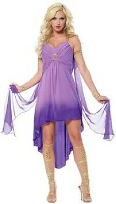 Sexy Roman Goddess Ladies Dress Capelet Attached Armbands & Headpiece Costume