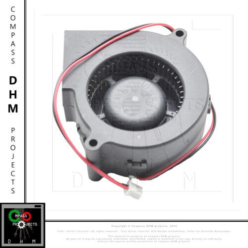 Turbo brushless ventola con condotto 75*75*30 mm 12V 7530 cooler fan 3D print