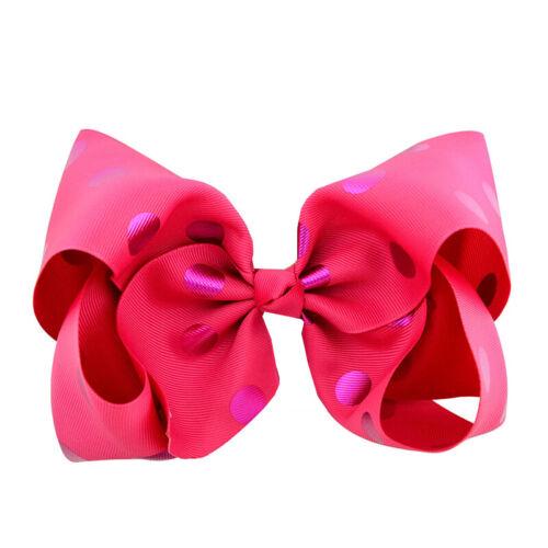 Girl JoJo Cartoon Siwa Unicorn Hair Clip Bow Alligator Bowknot Birthday 8 inch