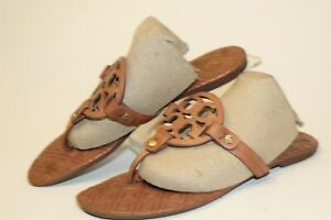 Tory-Burch-USED-Womens-Size-8-5-M-Miller-Leather-Slip-On-Flat-Thong-Sandal-Shoes