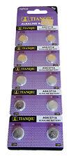 50 x TIANQIU AG6 371A 371 370 SR69 LR920 SR920 SR920SW Alkaline Watch Battery US