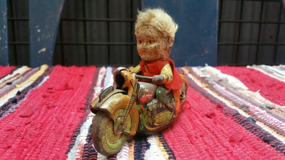 Motorcycle TOY Tinplate Vintage Rare From From From JAPAN Free shipping ea509b